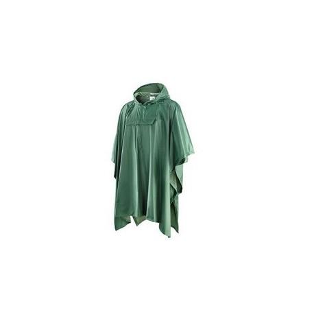 Cappotto da lavoro poncho in poliestere spalmato pvc verde NW NERI mod. 461110
