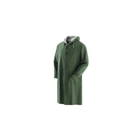 Cappotto da lavoro in poliestere spalmato in pvc verde NW NERI mod. PLUVIO