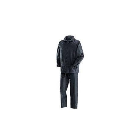 Completo giacca-pantalone da lavoro in poliestere spalmato pvc blu NW NERI mod. NIAGARA