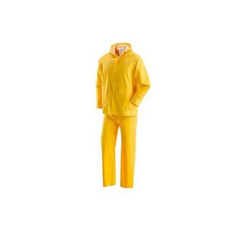Completo giacca-pantalone da lavoro in pvc spalmato giallo NW NERI mod. PLUVIO
