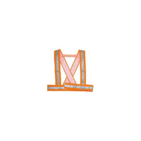 Bretelle da lavoro alta visibilità chiusura velcro classe 1 arancio DELTA PLUS  mod. BAUCE2