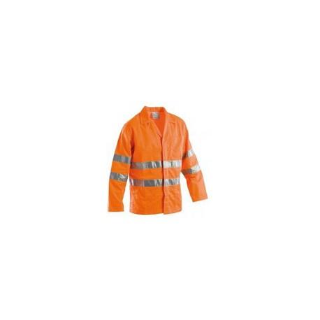 Giacca da lavoro estiva alta visibilità catarifrangente giallo/arancio GRUPPO   P&P