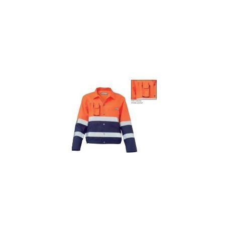 Giubbino da lavoro alta visibilità catarifrangente arancio SIGGI mod. 25GB0290