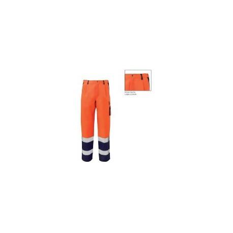 Pantalone da lavoro cargo alta visibilità catarifrangente SIGGI mod. 25PA0731