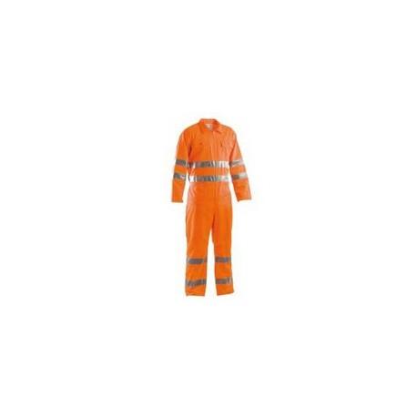Tuta da lavoro estiva alta visibilità catarifrangente arancio GRUPPO P&P