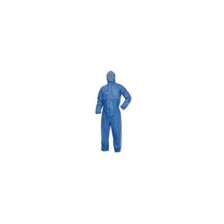 Tuta protettiva da lavoro in polipropilene blu categoria 3 mod. PROSHIELD