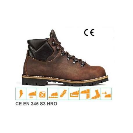 Scarpe pedula alta da lavoro in pelle idrorepellenti leggere TREEMME mod. 127