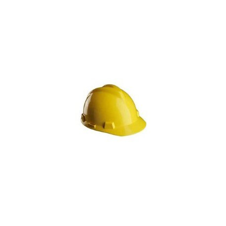 Elmetto da lavoro giallo bardatura push-key MSA mod V-GARD GV121