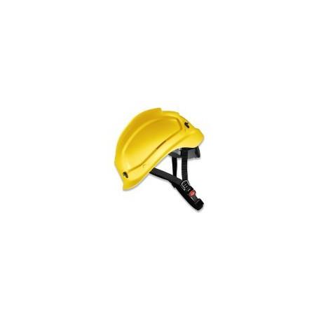 Elmetto da lavoro giallo con sottogola imbottito per edilizia EN397 e alpinismo EN12492 UVEX mod. PHEOS ALPINE 0389773150