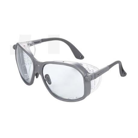 Occhiale protettivo da lavoro con lente chiara antigraffio con astine regolabili mod.501.00.00.00