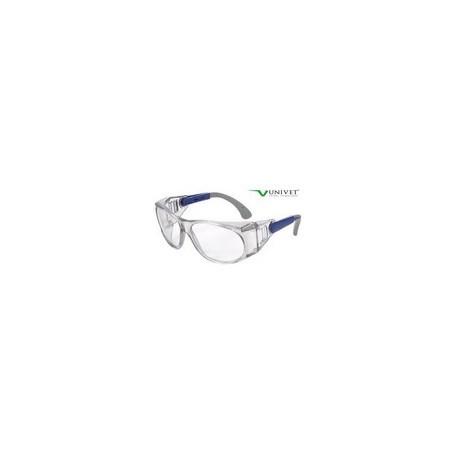 Occhiale protettivo da lavoro con lente chiara in policarbonato antigraffio     mod.539.00.01.11