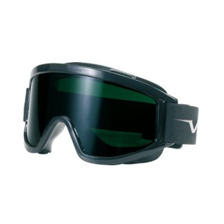 Occhiale a maschera da lavoro lente verde a ventilazione indiretta antigraffio /antiappannante mod.601.02.06.50
