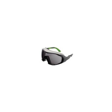 Occhiale a maschera protettivo da lavoro con lente scura antigraffio /          antiappannamento mod.6X1.00.00.01