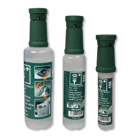 flacone soluzione monouso sterile di cloruro di sodio 0,9%  per il lavaggio     oculare d'emergenza mod. ACQ414