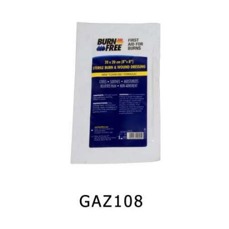 Busta garza sterile cm. 20x20 ricoperta di gel antiustioni burnfree             mod. GAZ108