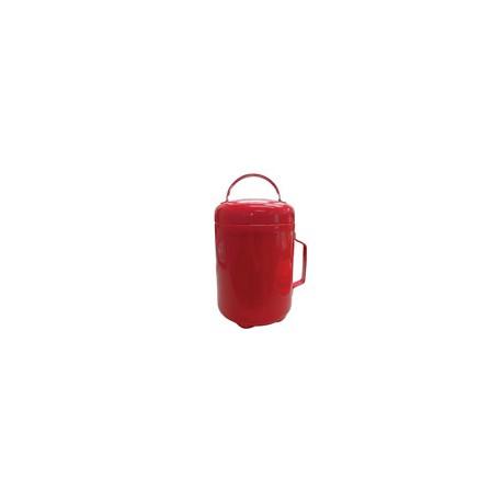 Secchiello per sabbia in lamiera rosso con coperchio e aggancio per staffa (non compresa) diam. mm 190x240 mod. 93001