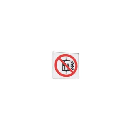 Cartello segnalatore monofacciale plexiglass satinato 150X150mm. RACK           SYSTEM mod.P8046A VIETATO USARE ASCENSORE