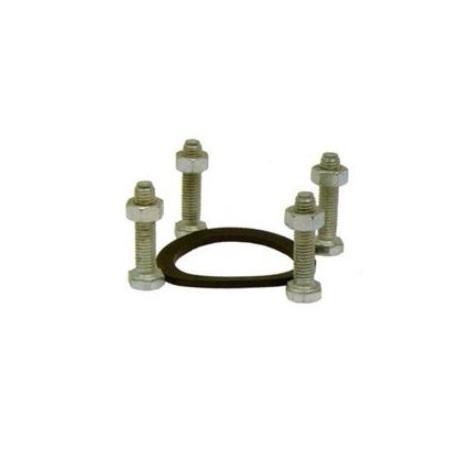 Guarnizione e serie 8 bulloni in acciaio zincato UNI EN 22014 per idrante DN80  mod. 0902.569