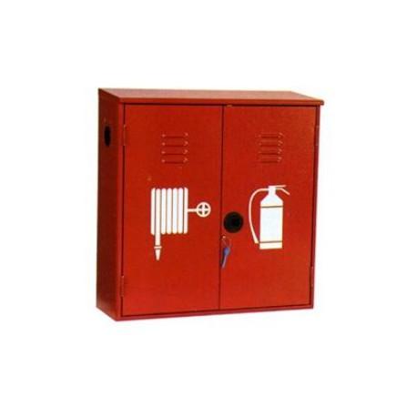 Cassetta doppia portaestintore e manichetta in lamiera zincata per esterni con  portello in lamiera mod. 3370.036