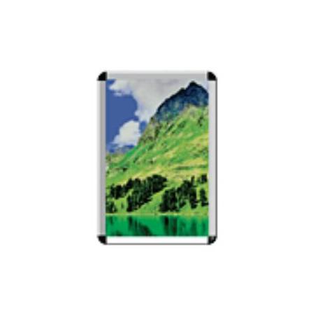 Cornice a scatto in alluminio anodizzato colore argento per foglio formato A2   cm. 594 x 420 mod. LEOA21003514050