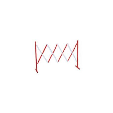 Barriera estensibile in acciaio colore bianco/rosso rifrangente estensibile finoa mt. 3 mod. FIG.580