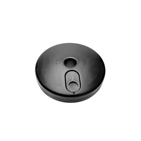 Base per colonnina in plastica diametro cm. 30 riempibile con acqua/sabbia      asciutta con tappo di chiusura mod. 40510RIE.