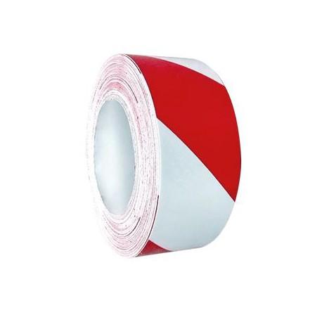 Nastro adesivo rifrangente bianco rosso cm. 50 x 22 mt. con losanghe da sinistraa destra mod. NR0501