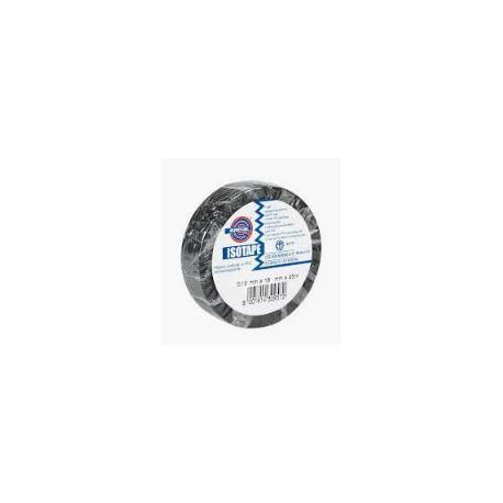 Nastro monoadesivo isolante nero in PVC plastificato per cablaggi elettrici h.  mm. 19 x 25 mt. mod. 015001200