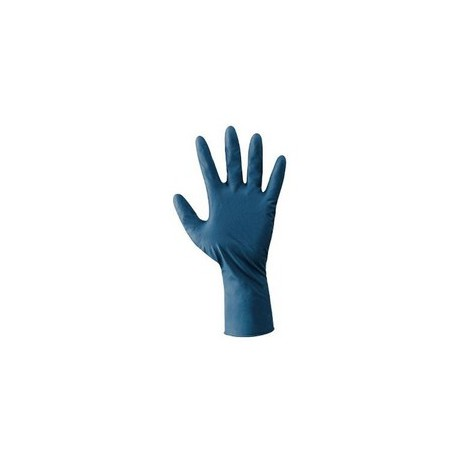 Guanti da lavoro 100% lattice naturale cm.30 blu NERI mod. LATEX PRO in         confezione da 50 pezzi.