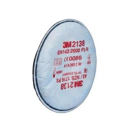Filtro per polveri/vapori classe P3R 3M ITALIA mod.2138.