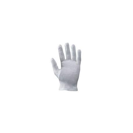 Guanti da lavoro in cotone uso cameriere bianco NW NERI mod. 335026 confezione  da 12 paia