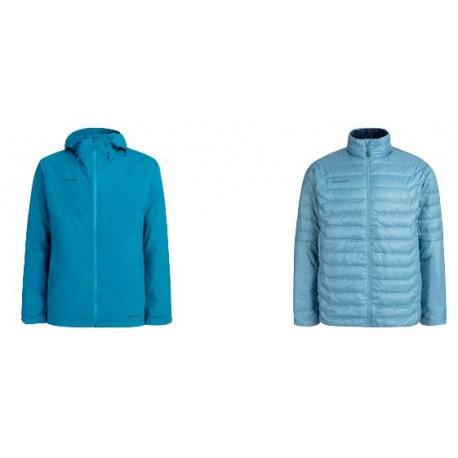 Giacca con cappuccio invernale per uomo MAMMUT mod. 1010-26470 CONVEY 3 IN 1 HS HOODED JACKET.