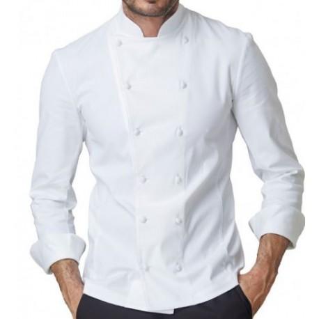 Giacca da lavoro cuoco uomo SIGGI mod. CESARE 97% cotone 28GA0207.