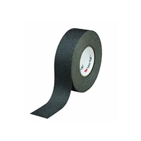Rotolo nastro adesivo antiscivolo nero dimensioni ml. 18,2 x 19 mm. altezza 3M.