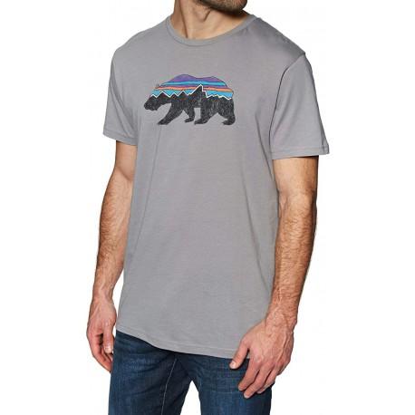 Maglia manica corta estiva per uomo PATAGONIA mod. 38524 FITZ ROY BEAR ORGANIC  T-SHIRT.