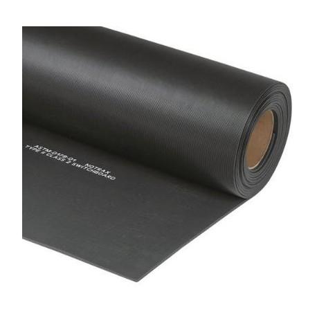 Rotolo tappeto isolante in gomma nero per protezione scosse elettriche prova    25000 V 1 mq. spessore mm. 6