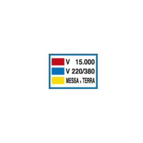 Cartello segnalatore monofacciale alluminio piano 250X350mm. mod. 3781          CARTELLO V.15000- V. 220/380